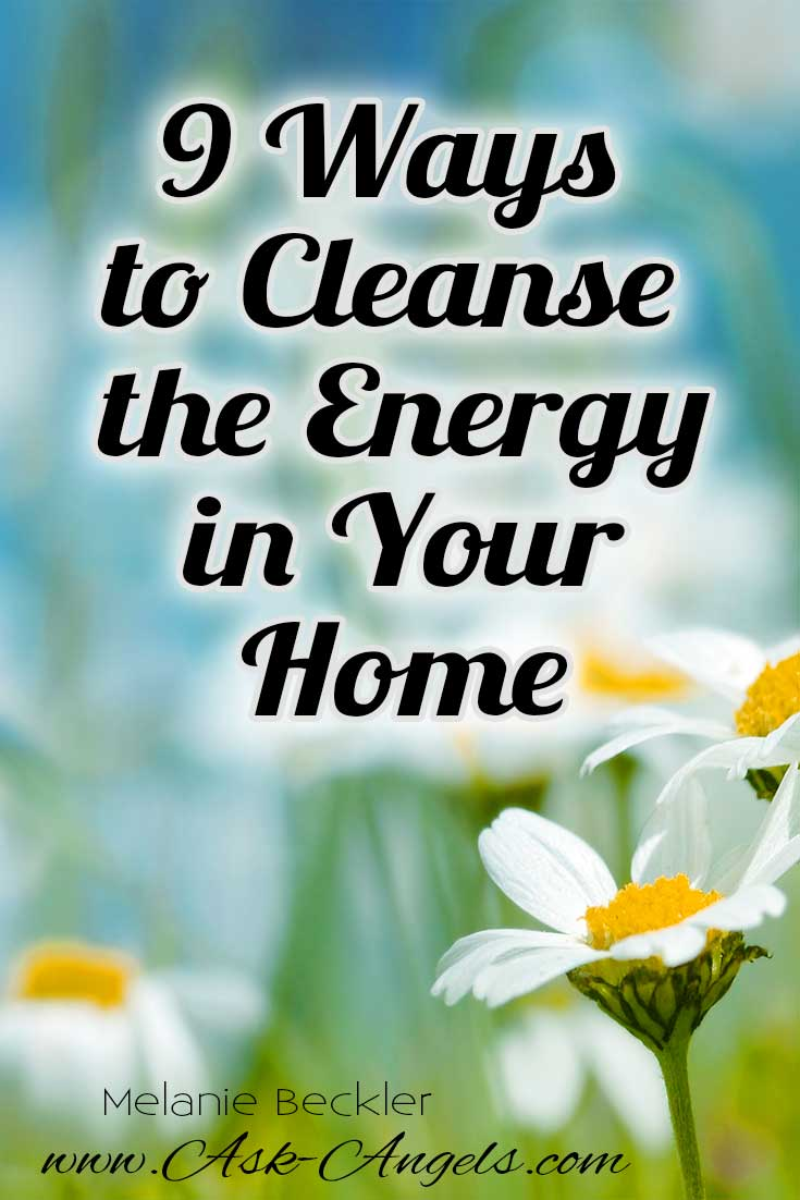 Energy clearing with positive energy from the angels Cleansing bad energy from home