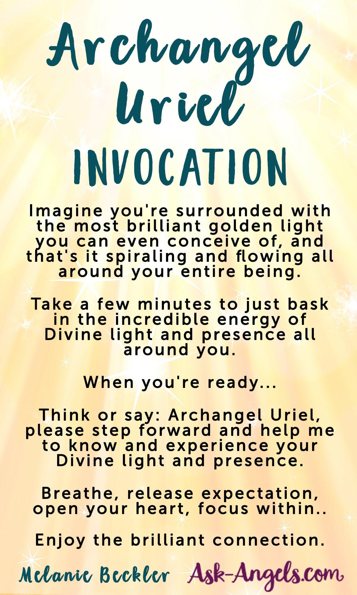 Archangel Uriel Invocation