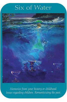 Six of Water - Angel Tarot