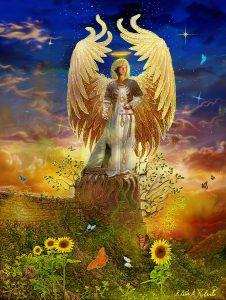 Archangel Uriel image, by Steve Roberts