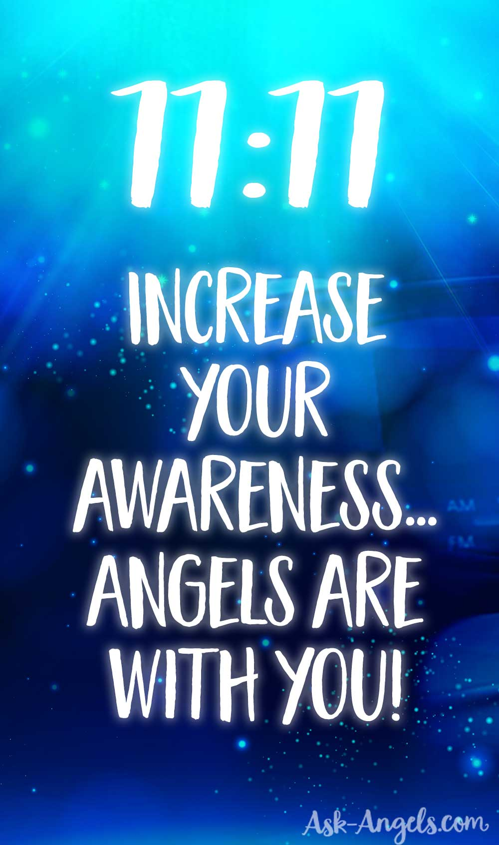 The Angel Number 1111 has many layers of meaning. It is often a sign of angels and a reminder to become aware and present so you can begin to experience the angelic energy and guidance that is with you. #11