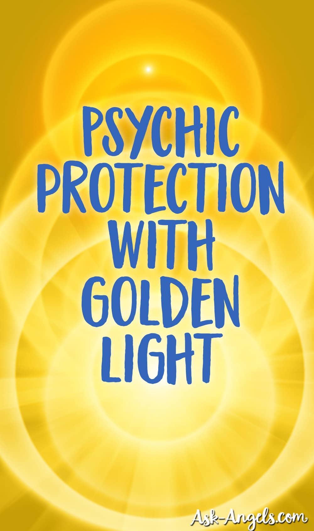Protection psychique avec lumière dorée