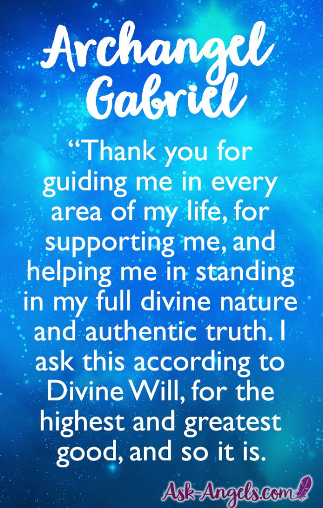 Archangel Gabriel Prayer for Guidance, Support and Wisdom. Check out my full post for more tips and insight about calling archangelic guidance and support from Gabriel.