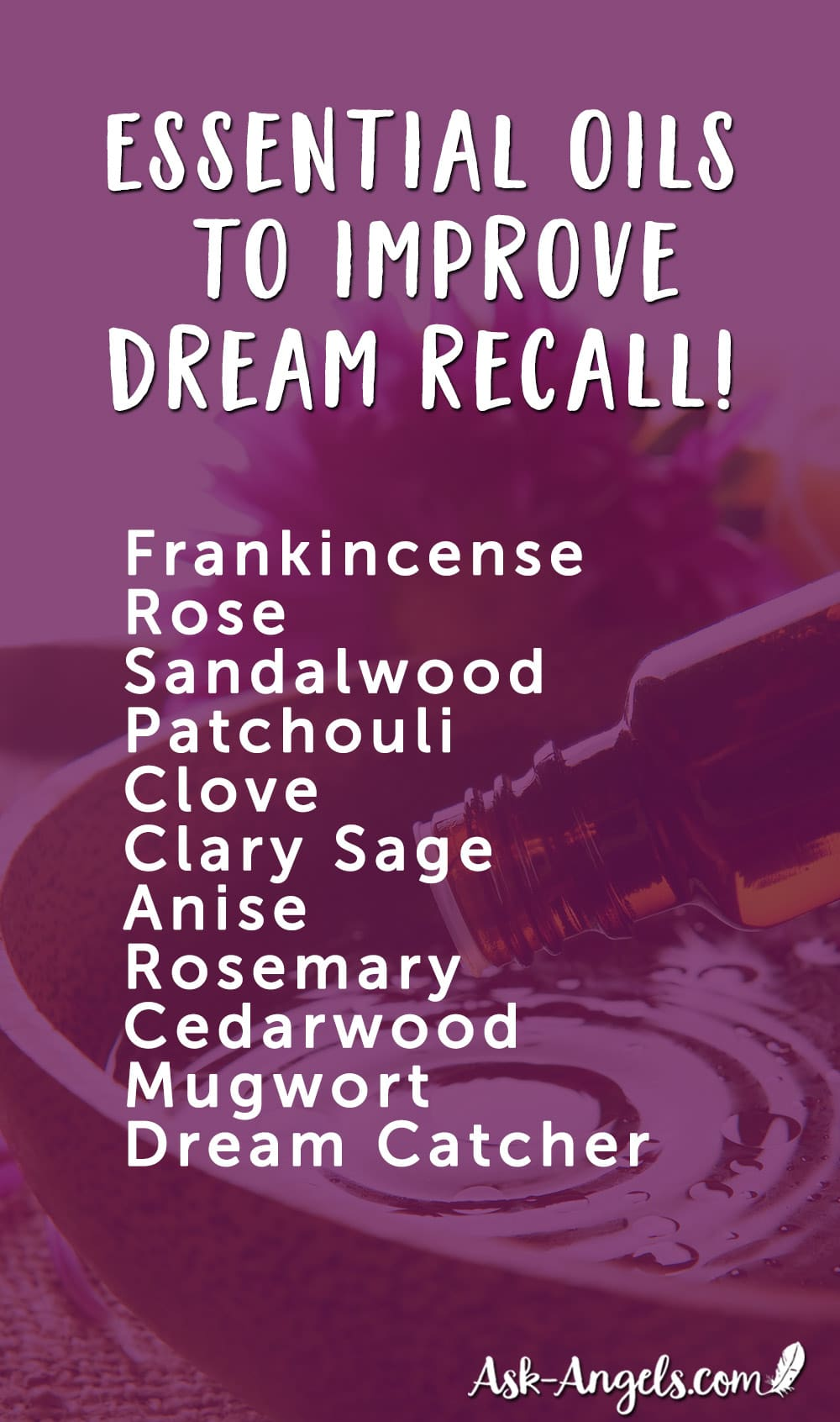 Essential Oils For Remembering Dreams