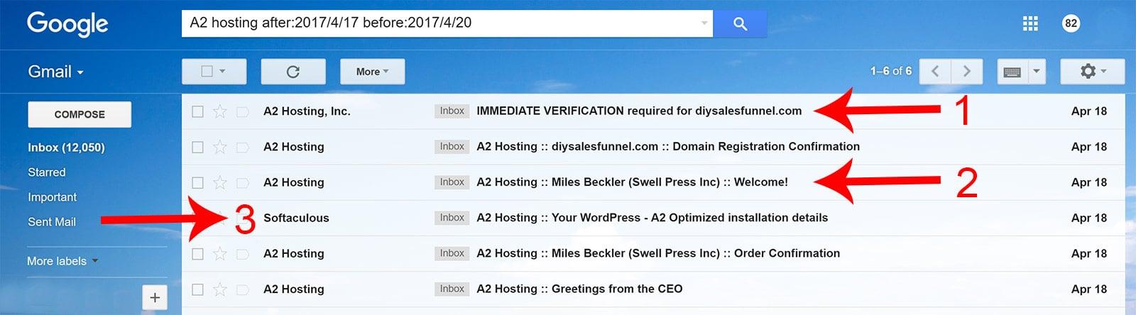 A2 Hosting Emails