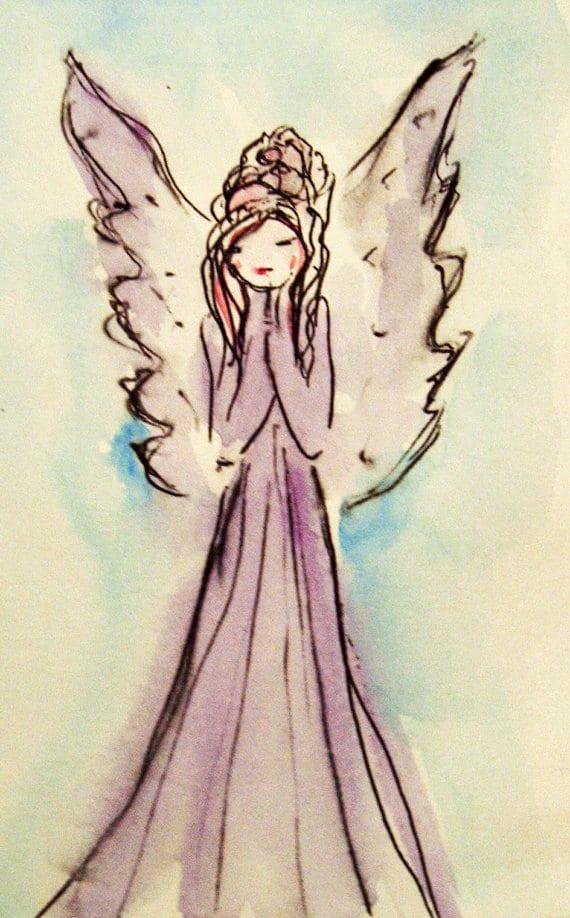 Guardian Angel Painting - Kristina Valic