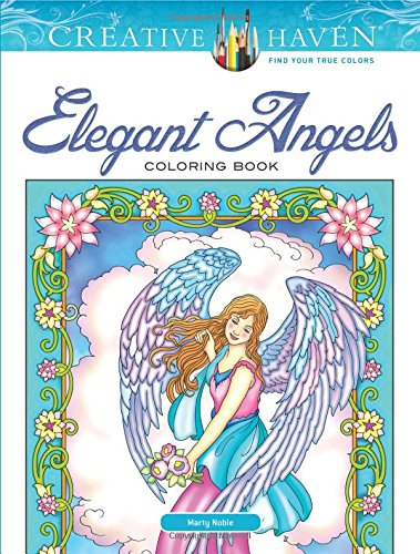 Elegant Angels Coloring Book