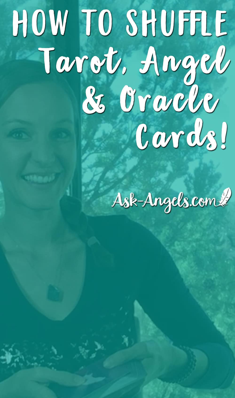 Learn how to Shuffle Tarot Cards, Angel Cards and Oracle Cards! #oraclecards #tarot