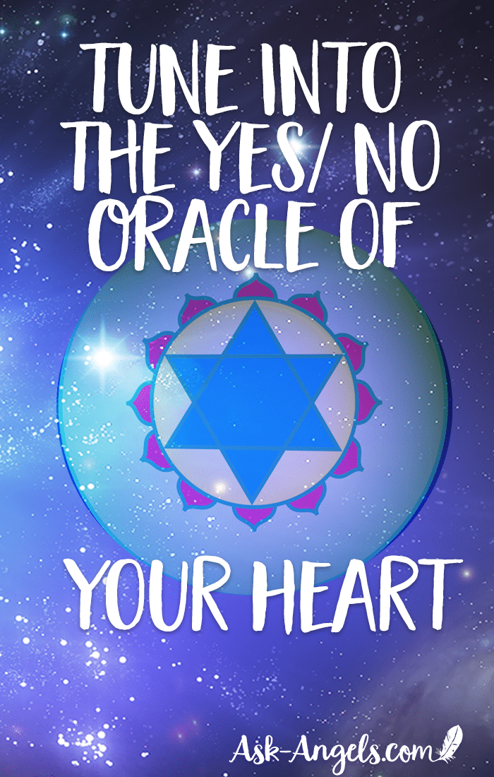 You have access to an inner source of guidance through your heart center. An inner ability to be your own oracle and receive direct messages, guidance and love from the Diving. Learn how to tune into the Yes/ No Oracle of Your Heart Center here now! #oracle #guidance #heartcenter