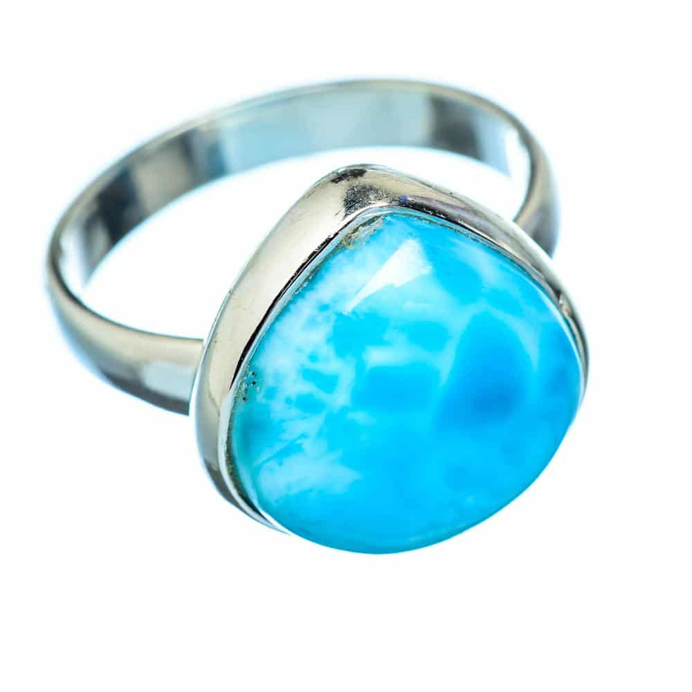 Larimar Ring - Crystals for Travel